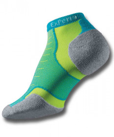Thorlo Experia Micro Mini Socks Turquoise/Yellow XCCU10-222