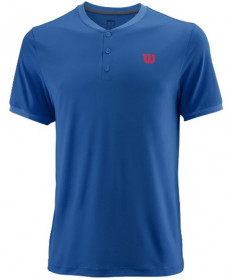 Wilson Men's UWII Henley Top Prince Blue WRA762901