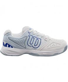 Wilson Junior Stroke Shoes White / Blue WRS324020