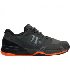 Wilson Men's Rush Pro 2.5 Platform Shoes Black/Orange WRS324630