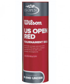 Wilson US Open Red Dot Junior Balls 3/Can WRT137600
