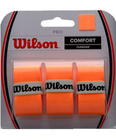 Wilson ProOvergrip Fluoro Orange 3 Pack WRZ4014OR