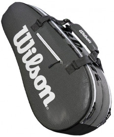 Wilson Super Tour 2 Compartment Small 6 Pack Tennis Bag Grey WRZ843906