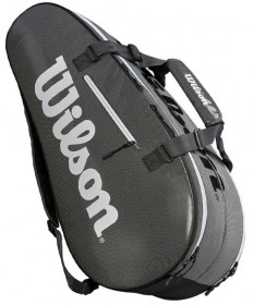 Wilson Super Tour 2 Compartment Large 9 Pack Tennis Bag Grey WRZ843909