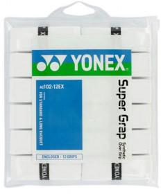 Yonex Super Grap Overgrips 12-Pack White AC102-12EX-WH