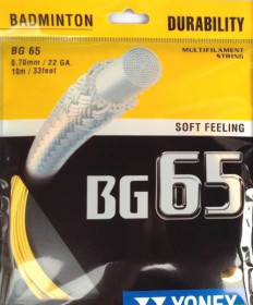 Yonex BG 65 Micron Badminton String 22 Orange