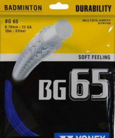 Yonex BG 65 Micron Badminton String 22 Royal Blue