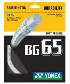 Yonex BG 65 Badminton String White BG65WH