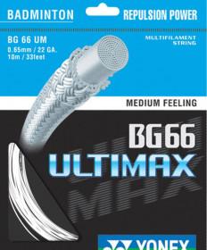 Yonex BG 66 UltiMax Badminton String 22 White