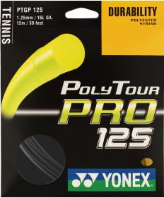 Yonex Poly Tour Pro 1.25 16L String Black PTGP125GT