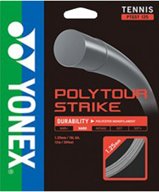 Yonex PolyTour Strike 16L 1.25MM String Black PTGST125