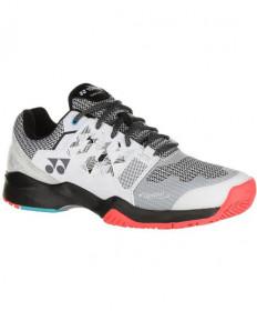 Yonex Men's Power Cushion Sonicage Shoes WIDE White / Black STSWWBK