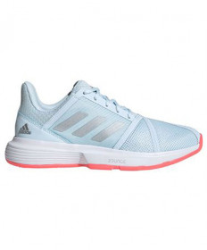 Adidas Courtjam Bounce Women's Sky Tint/Silver/Pink FU8146