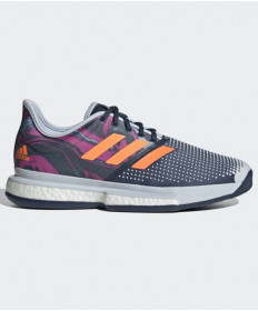 Adidas Men's SoleCourt Primeblue Shoes Blue/Orange/Pink FX1730