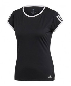 Adidas Women's Club 3 Stripe Tee-Black DU0957