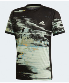 Adidas Men's New York Printed Tee-Black-Glow Green DX4322