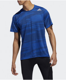 Adidas Men's Freelift Winterized Jacquard Tee-Collegiate Royal DZ7327
