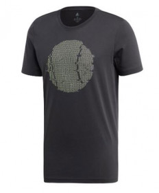 Adidas Men's Flushing GFX T-Shirt-Carbon ED6188