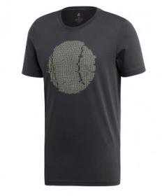 Adidas Men's Flushing GFX T-Shirt-Carbon ED6188