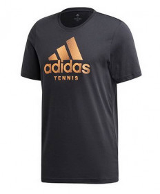 Adidas Men's Tennis Graphic Tee- Carbon EH5604