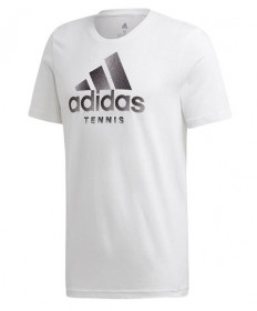 Adidas Men's Tennis Graphic Tee-White EH5606