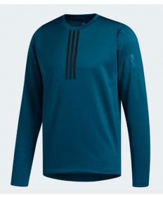 Adidas Men's Freelift Climawarm 3 Stripe Longsleeve-Tech Mineral EI5052