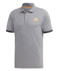 Adidas Men's New York Polo-Grey Three- Flash Orange EI8971
