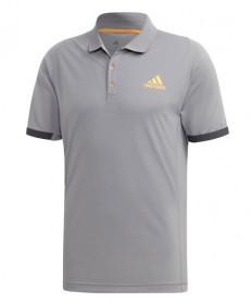 Adidas Men's New York Polo-Grey Three- Flash Orange EI8971