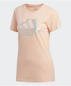 Adidas Women's See You Badge of Sport shortsleeve Tee- Glow Pink