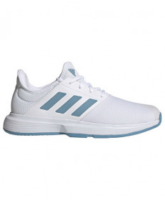 Adidas Men's Gamecourt Shoes White/Blue FX1552