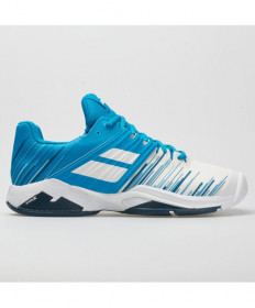 Babolat Men's Propulse Fury All Court 2020 Shoes White/Blue 30S20208-1030