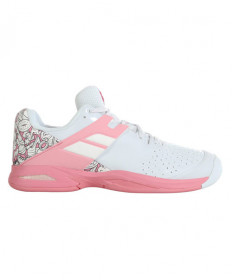 Babolat Juniors' Propulse All Court Shoes White/Pink 32S20478-1040