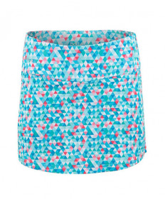 Bolle Straight Print Skirt-Blue Bayou 8694-0110