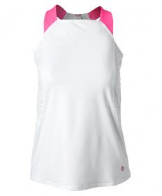 Cross Court Neon Lace Racerback-White 8440-0110