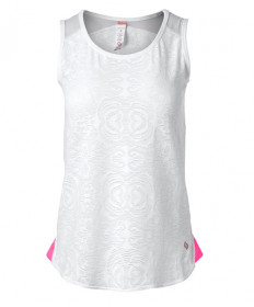 Cross Court Neon Lace Tank-White 8441-0110