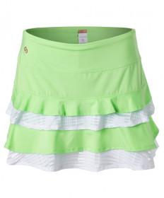 Cross Court Flounce Skirt-Melon-White 8657-9232