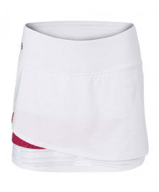 Cross Court Wildfire Layered Skirt-White 8661-0110