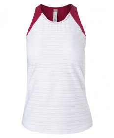 Cross Court Wildfire Racerback Tank-White 8772-0110