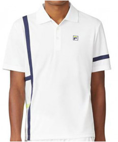 Fila Men's PLR Singles Polo-White TM016282-100
