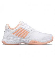 K-Swiss Court Express Women's Tennis Shoes White/Peach 95443-171