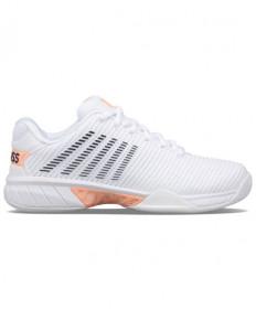 K-Swiss Hypercourt Express 2 Women's Tennis Shoes White/Peach/Grey 96613-172