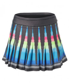 Lucky In Love Long Squared Up Skirt-Black Print CB282-E18001