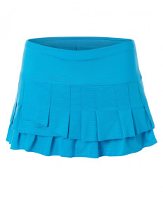 Lucky In Love Square are You Stitch Down Tier Skirt- Turquoise CB493-409