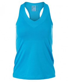 Lucky In Love V Neck Tank w/Bra- Turquoise CT759-409