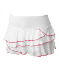 Lucky In Love Shadow Stripe Rally Skirt-White CB266-120