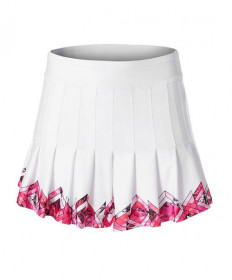 Lucky In Love Long Chroma Pleat Skirt-White CB282-903110
