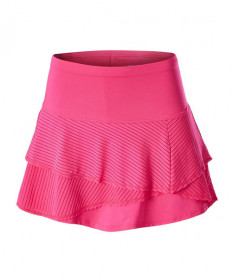 Lucky In Love Long Shadow Stripe Origami Skirt-Shocking Pink CB375-645