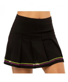 Lucky In Love Rockin' Rococo Long 13.25 Micro Tuck Pleat Skirt-Black CB423-001