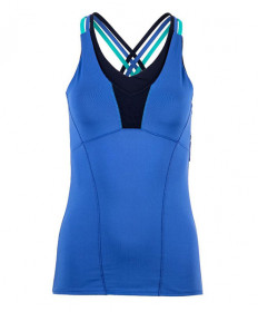 Lucky In Love Double Cross Cami-Parisian Blue CT349-434