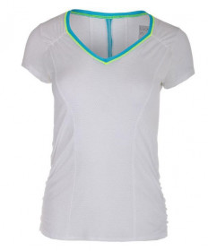 Lucky In Love Uplift Short Sleeve Top- White-Paradise CT470-125